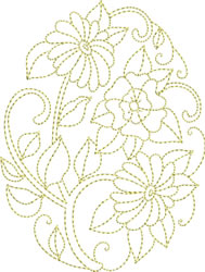 Easter Goldwork embroidery design