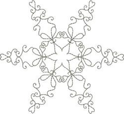 Snowflake Silverwork embroidery design