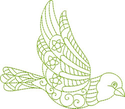 Bird Greenwork embroidery design
