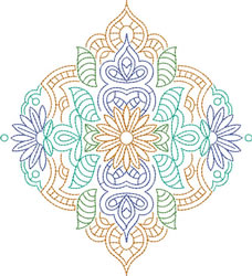 Flower Motif embroidery design
