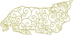 Redwork Cow embroidery design