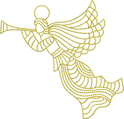 Christmas, Angels embroidery design