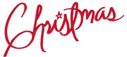 Christmas Text embroidery design