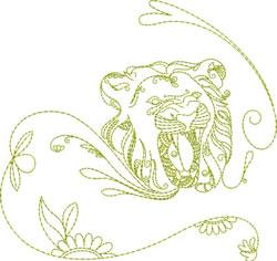 Redwork Lion embroidery design