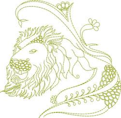 Lion Design embroidery design
