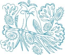 Fancy Birds embroidery design
