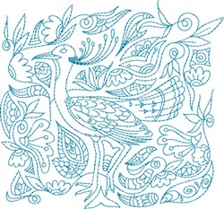 Heirloom Bird embroidery design