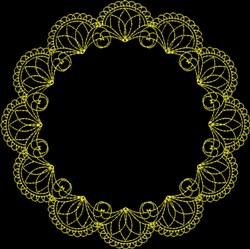 Frame embroidery design