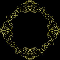 Pretty Frame embroidery design