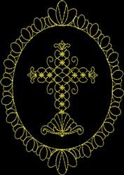Elegant Cross embroidery design