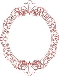 Heirloom Redwork Frame embroidery design