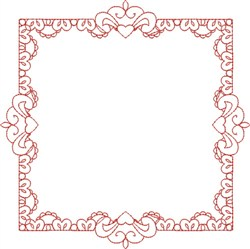 Square Frame embroidery design