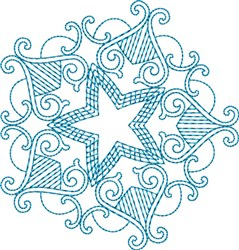 Fancy Star embroidery design
