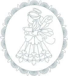 Lace Angel embroidery design