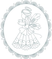Cute Angel embroidery design