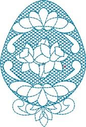 Daffodil Egg embroidery design