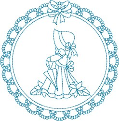Lace Sunbonnet Sue embroidery design