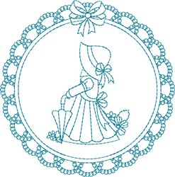 Lace Sunbonnet Girl embroidery design