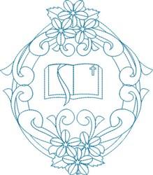 Religious Bible Wreath embroidery design