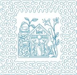 Stipple Garden Block embroidery design
