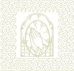 Religious Praying Hands embroidery design