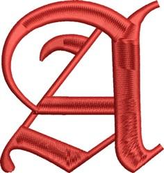 Grand English Monogram A embroidery design