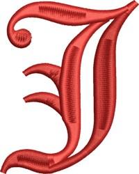 Grand English Monogram J embroidery design