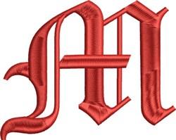 Grand English Monogram M embroidery design
