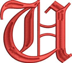 Grand English Monogram U embroidery design