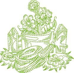 Garden Hose Block embroidery design