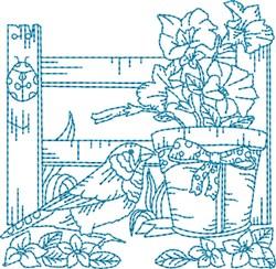 Garden Bird Block embroidery design
