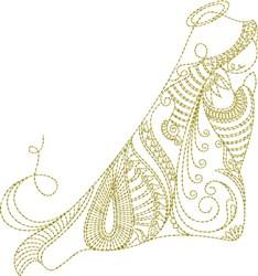 Elegant Angel Quilt Block/Tea Towel embroidery design