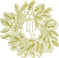 Christmas Time Wreath embroidery design