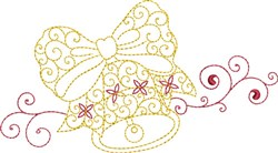 Christmas Swirl Bell embroidery design