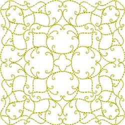Elegant Swirl Quilt embroidery design