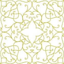 Swirl Quilt Block embroidery design
