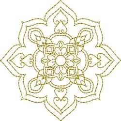 Snowflake Motif Quilt Block embroidery design