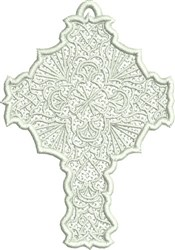 Free Standing Lace Cross embroidery design