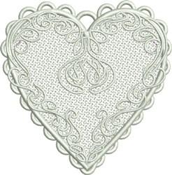 FSL Valentine Heart embroidery design