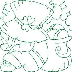 St. Patricks Quilt Block embroidery design