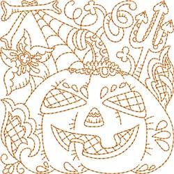 Quilt Jack-o-lantern embroidery design