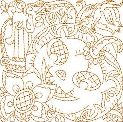 Candle Jack-o-lantern embroidery design