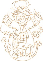 Oval Scarecrow embroidery design
