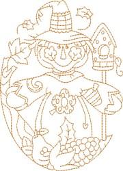 Harvest Scarecrow embroidery design