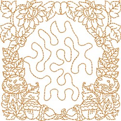 Fall Quilt Block embroidery design
