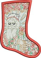 FSL Christmas Stocking embroidery design