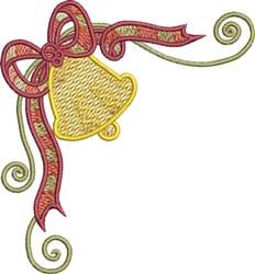 Festive Corner Holiday Bells embroidery design