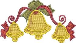 Festive Three Bells embroidery design