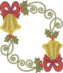 Festive Circle Bells embroidery design