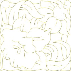 Daffodil Quilt Block embroidery design